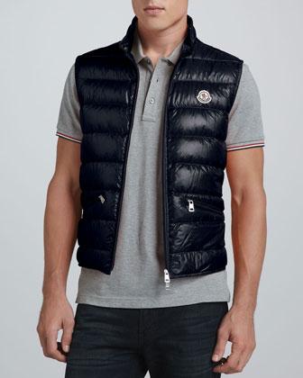 Gui Lightweight Puffer Vest, Navy