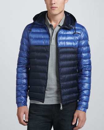 Bic E Lightweight Puffer Jacket, Blue/Navy