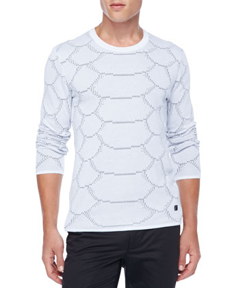 Python Perforated Tee, White
