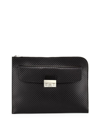 Diamante Portfolio Case, Black
