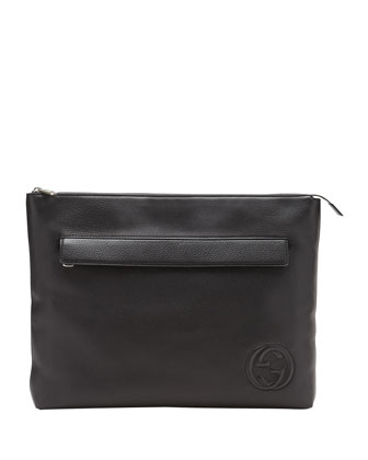 Soho Large Portfolio Case, Black