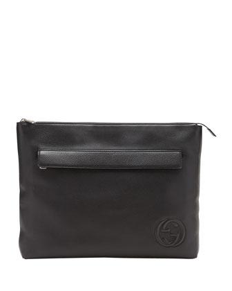Soho Large Portfolio Case, Black