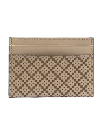 Diamante Card Case, Tan