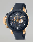 Militare II Chronograph Watch, Rose Gold/Navy