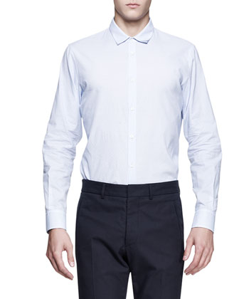 Double-Collar Dress Shirt, Light Blue