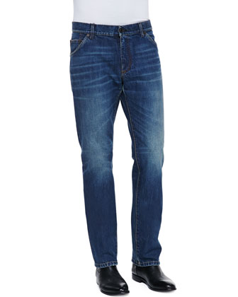 Medium Blue Rinse Denim Jeans