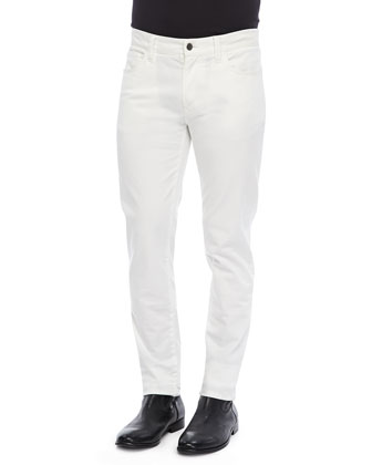 Garment Dyed Pants, White