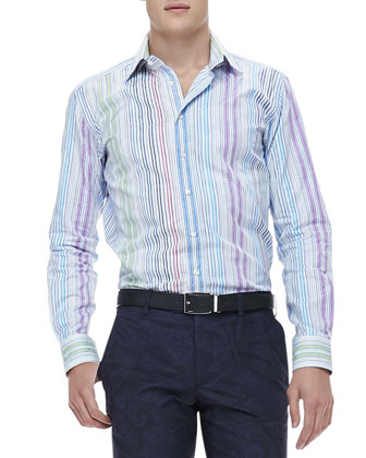 Multi-Stripe Jacquard Shirt