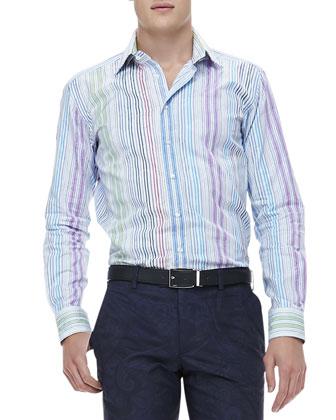 Multi-Stripe Jacquard Shirt