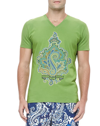 Paisley Graphic Tee, Green