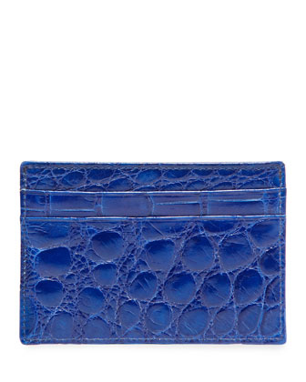 Alligator Card Case, Blue