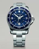 Maverick Stainless Steel Watch, Blue