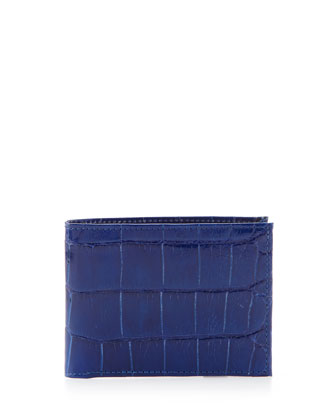 Alligator Bi-Fold Wallet, Blue