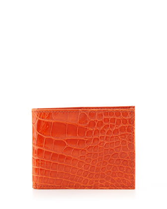Alligator Bi-Fold Wallet, Orange