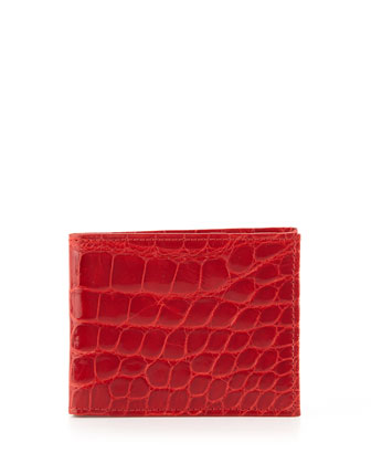 Alligator Bi-Fold Wallet, Red