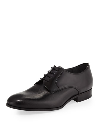 Multi-Leather Lace-Up, Black