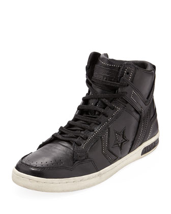 Weapon Ball & Chain High-Top Sneaker, Black