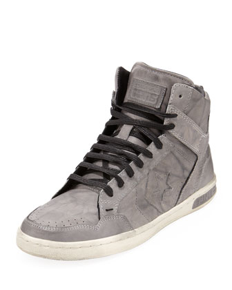 Weapon Ball & Chain High-Top Sneaker, Gray