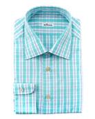 Plaid Dress Shirt, Aqua