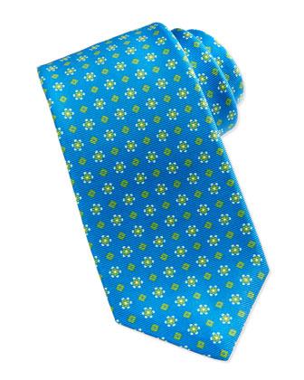 Geometric Neat Tie, Blue