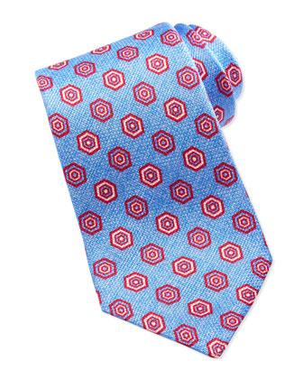 Grenadine Geometric-Neat Tie, Blue