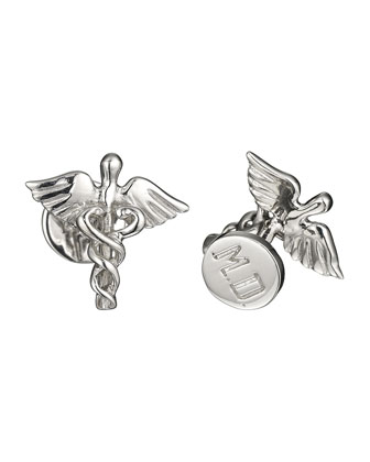 Caducei Sterling Silver Cuff Links