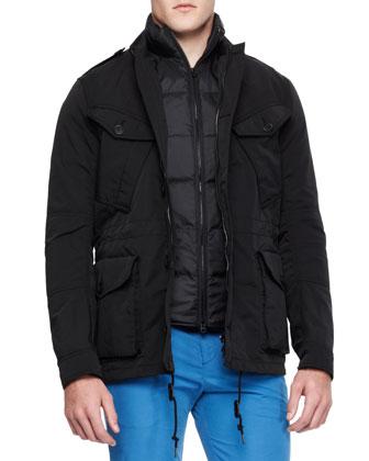 Field Jacket with Removable Vest, Black