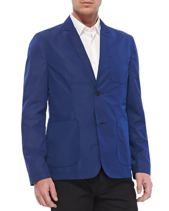 Lightweight Tech Blazer, Blue