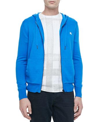Knit Full-Zip Hoodie, Blue