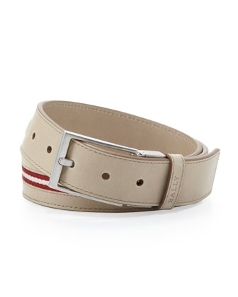 Tamer Reversible Calf Leather Belt, Tan