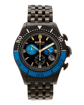 Manta Chronograph Watch, Black