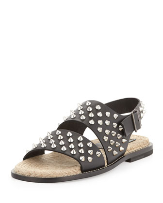 Men's Studded Sandal, Black