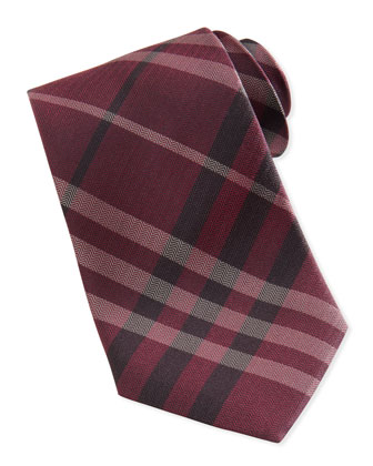 Herringbone Check Tie, Red