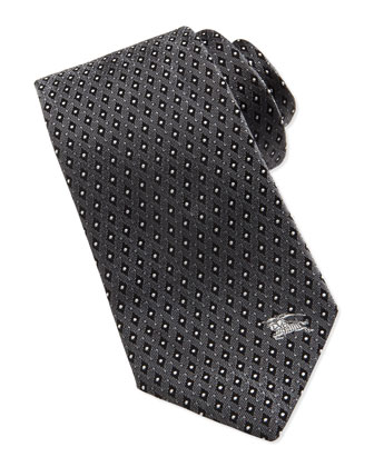Micro-Dot Diamond Jacquard Tie, Gray