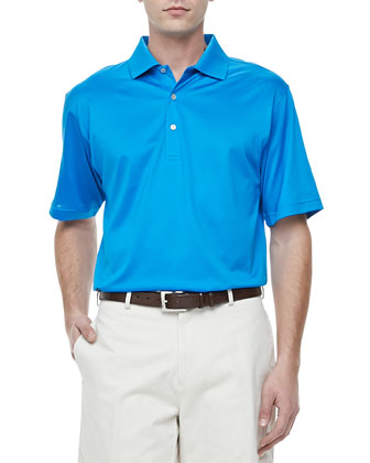 Lisle-Knit Cotton Polo, Hurricane