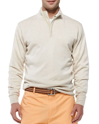 Quarter-Zip Pullover, Cream