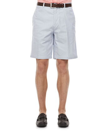 Pincord Cotton Shorts, Navy