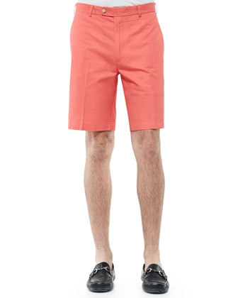 Lightweight Washed-Twill Shorts