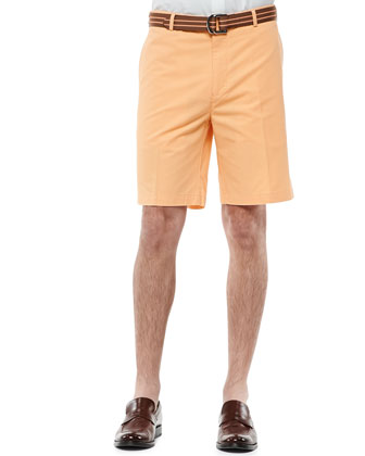 Lightweight Cotton Shorts, Yellow