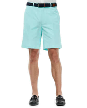 Lightweight Cotton Shorts, Light Blue