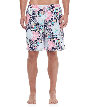 Bermuda Paisley-Print Swim Trunks