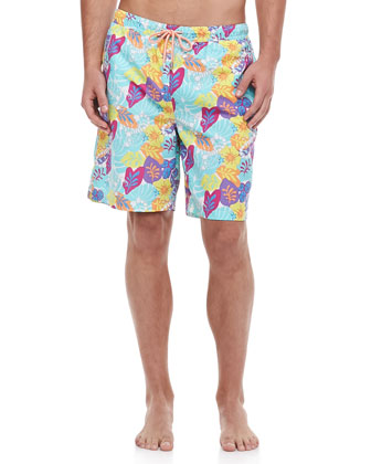 In-A-Pinch Floral Swim Trunks