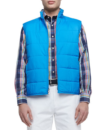 Cumberland Quilted Vest, Ibiza Plaid Lone-Sleeve Shirt & Winston Washed ...