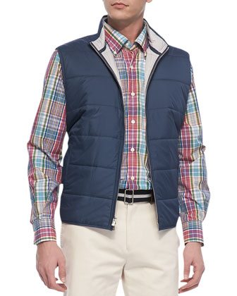 Cumberland Quilted Vest, Navy