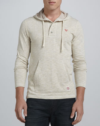 Hooded Henley, Oatmeal