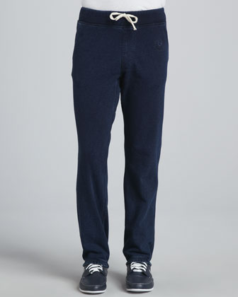 Cotton Fleece Sweatpants, Indigo