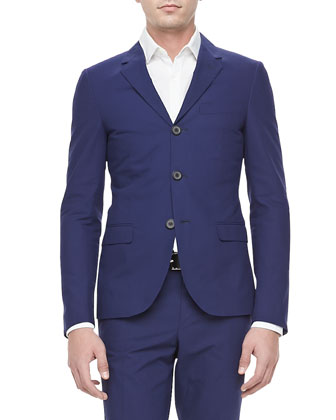 Slim-Cut 3-Button Sport Coat, Blue