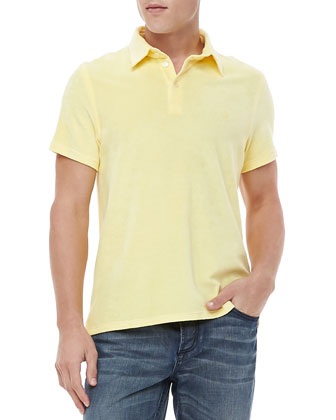 Short-Sleeve Terry Polo, Yellow