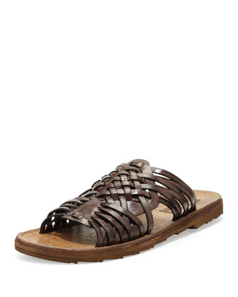 Men's Woven Huarache Sandal, Brown
