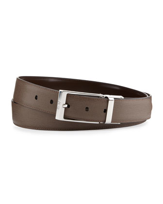 Men's Reversible Leather Belt, Brown/Taupe